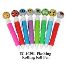 Brinquedo de caneta de bola rolante intermitente