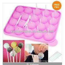 Fábrica da origem de Shenzhen BPA livre Hot-selling Molde do Lollipop do silicone