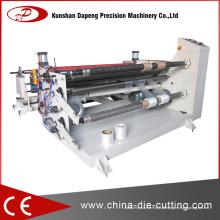 Máquina rebobinadora de filme com faca redonda / faca reta