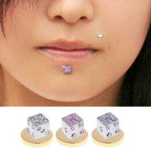 316L Jeereled Dice Magnetic Fake Labret