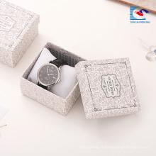 Boîtes de papier personnalisé argent feuille de présentation bracelet Boîtes de cadeau de bijoux fantaisie Chine en gros