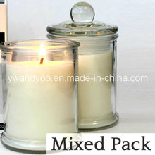 Organic Glass Jar Candle with Lid