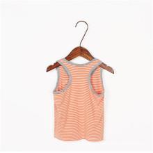 T-shirt unisex dos miúdos para a venda, t-shirt profundos da garganta das roupa sem mangas dos miúdos
