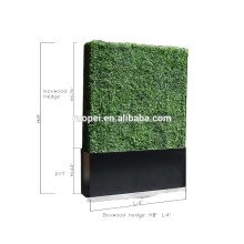 Outdoor privacy hedge faux boxwood hedge