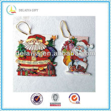 die cut shaped mini Christmas card for Santa Claus