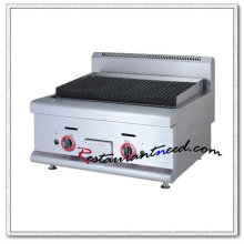 K021 Stainless Steel Counter Top Lava Rock Commercial Gas Grill