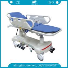 AG-Hs010 mit Kunststoff-Bedboard Wirtschaftskrankenhaus Stretcher Trolley (AG-HS010)
