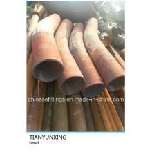 Curva de tubo de tratamiento térmico API 5L X52 con tangente