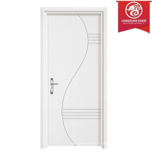 Simple Design Veneer Flush Intérieur Portes blanches, portes intérieures à noyau creux avec du papier carré Honeycomb