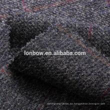 Paño de lana de tweed de lana azul marino sobrepasa el cristal de la capa deportiva