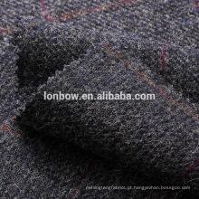 Tecido de tweed de lã da Marinha overcheck windowpane para casaco esportivo