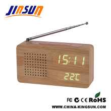 Despertador de rádio com display led