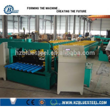 Low Price PLC Control With Touch Screen And Button High Speed Full Automatic Corrugated Glazed Steel Roll Forming Machine