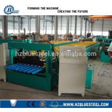 Máquina de linha de produção de painel de alumínio ondulado / Máquina de construção de telhas de metal galvanizado