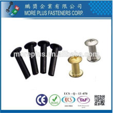 Taiwan Stainless Steel Mild Mushroom Truss Black zinc Plated Semi Tubular Rivet