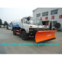 Hot Selling New 4x2 Wheel water tanker truck, 10-12CBM water tanker with snow thruster