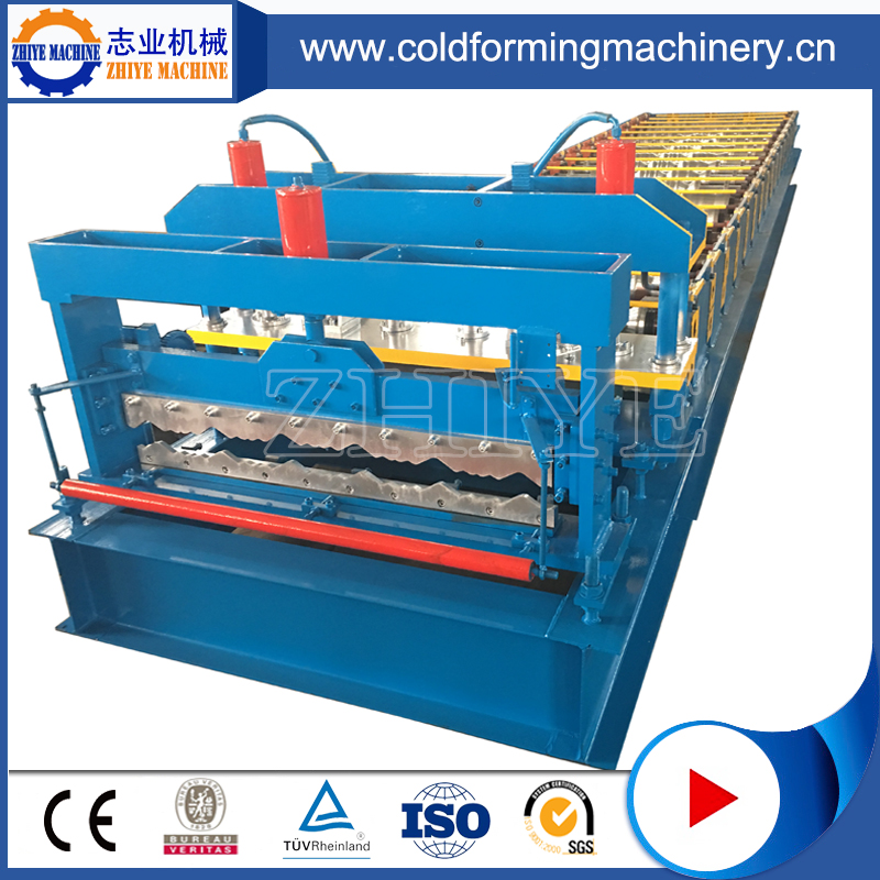 Steel Coil Glazed Roofing Tiles Rolling Forming Machine