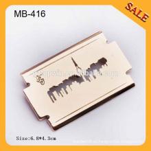 MB416 Corte de logotipo de alta calidad Lámina promocional de forma de hoja Metal Pin Badge