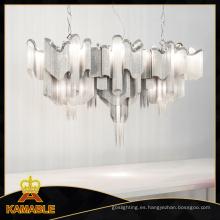 Moderna elegante candelabro cadena de plata para Villa (ka11077)