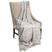 Woollen Pure New Plaid Wool Throw Blanket