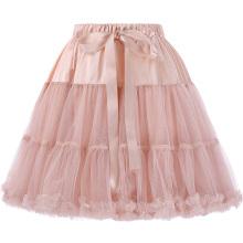Белль некоторые из них имеют роскошный 3 слоя мягкий тюль сетка светло-розовый Кринолин, Нижняя юбка, Подъюбник для Ретро платья BP000226-3