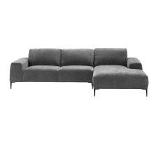 Modern Latest Design Metal Leg Grey Color Home Furniture Corner Sectional Sofa