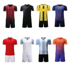 2017 nuevo estilo juvenil sin logotipo negro fútbol verde uniforme personalizado jersey de fútbol barato conjunto