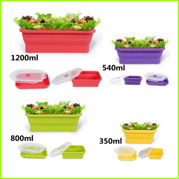 Hot Selling Silicone Folding Lunch Box