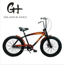 24inch Fat Tire Disc Brake 3 Speed Beach Cruiser Bike