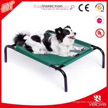Elevated wrought iron pet bed crib