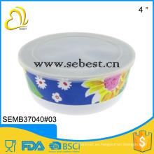 Tazón de ensalada de melamina cubierta al por mayor superior personalizada