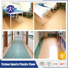 Plancher antibactérien de vinyle commercial de 2.0mm pour l'hôpital