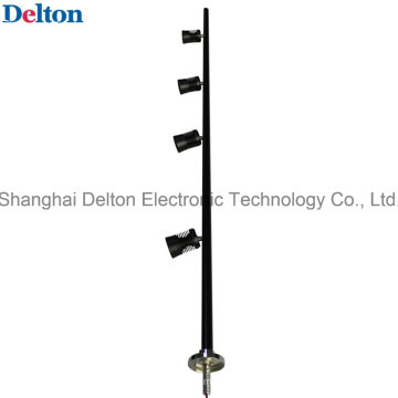 4 luz-cabeça flexível preto LED gabinete spot luz (dt-zbd-001)