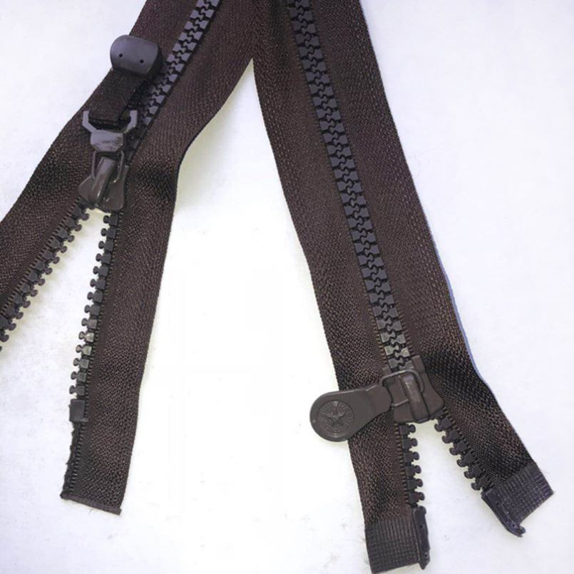 Black long polyester zipper