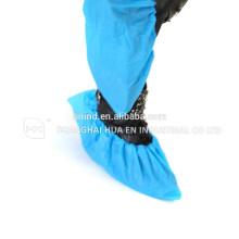 Desechable blanco azul verde PE CPE PP SMS Microporoso zapato cubierta