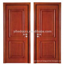 Luxo 2 painel pintado interior porta de madeira maciça para quarto