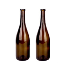 empty 750ml brown glass wine bottles for red wine wholesale with cork lid