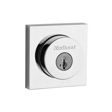 Cylinder Polished Chrome Deadbolt Featuring SmartKey