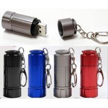 Portable Mini Schlüsselbund USB Aluminium wiederaufladbare Licht USB Schlüsselbund