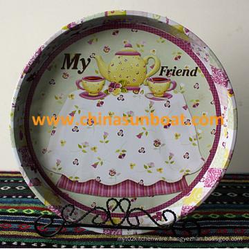 Sunboat Kitchenware/ Kitchen Appliance Fruit Snacks Disc Dessert Plate, Decorative Plate, British Disc