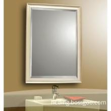 wooden framed hotel / bathroom mirror
