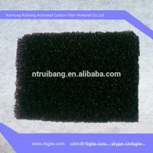 Herstellung Waben Aktivkohlefilter Schwamm