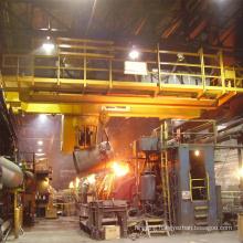 casting bridge crane 125 ton for metallurgy