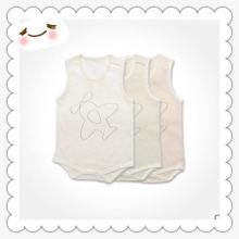 Body de bébé organique de coton de Sleeveness de l'usine de la Chine avec la certification
