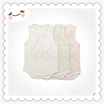 Bodysuit orgânico do bebê do algodão da sleeveness da fábrica de China com certificação