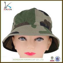 Sombrero de cubo de pesca de camuflaje blanco llano personalizado