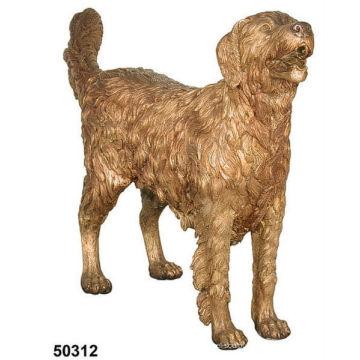 statue de chien en bronze