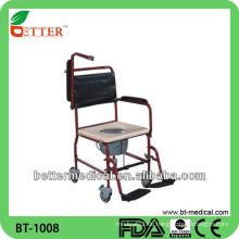 Stahl Patient Kommode Stuhl mit Rädern