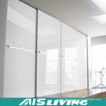 Pure White Ausziehbare Türen Kleiderschrank Schrank Möbel (AIS-W016)