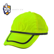 Plain Polyester Twill Caps Breathable Mesh Back Hat Reflective Piping Wholesale Hi Vis Cap